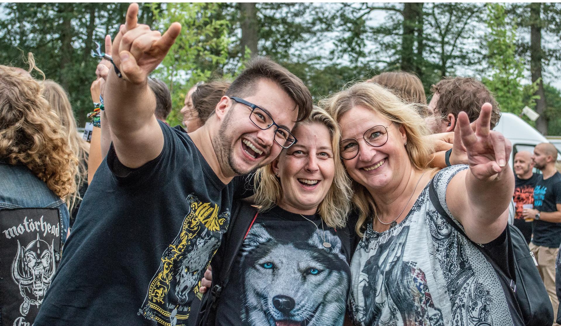 Betriebsfest auf Einem Festival